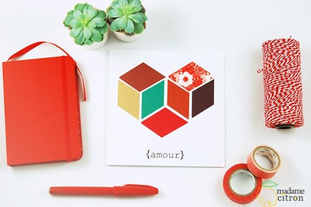 carte imprimable saint valentin 1