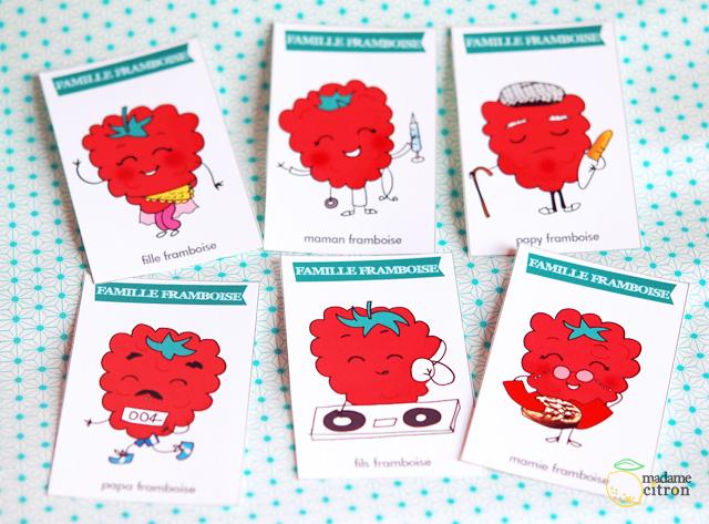Exceptionnel DIY : le jeu de cartes des sept familles à imprimer (LES  DV58