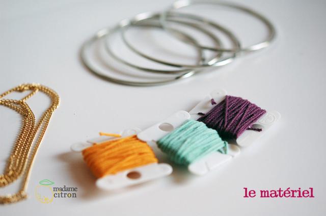 tuto bracelet matériel