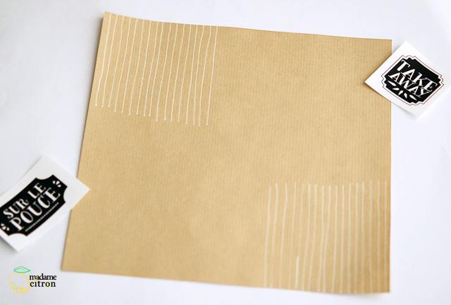 papier kraft cornet