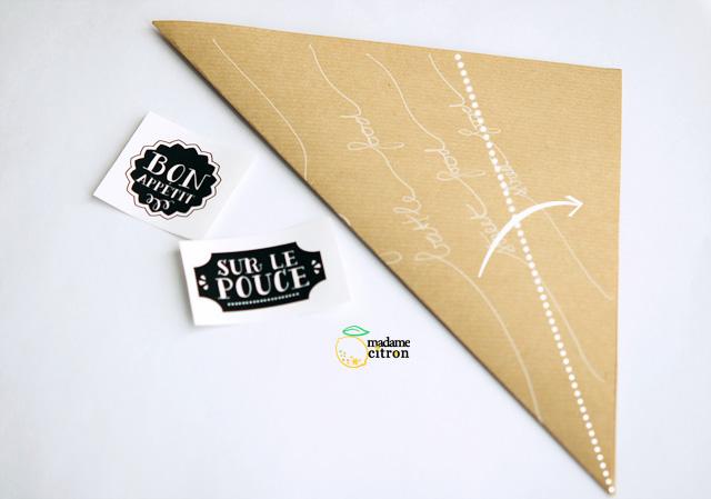 origami pliage cornet