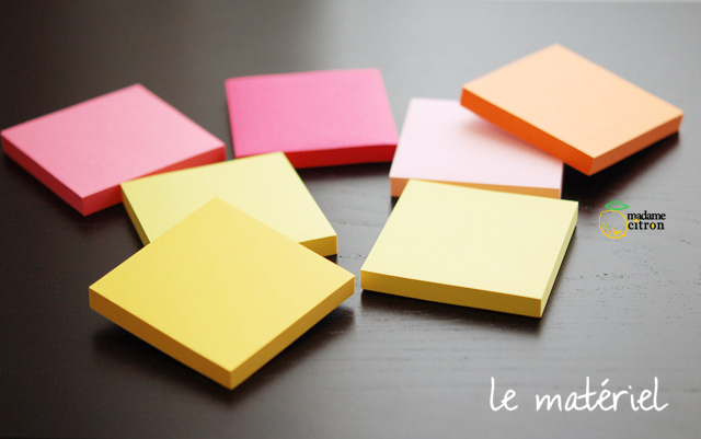 post-its diy