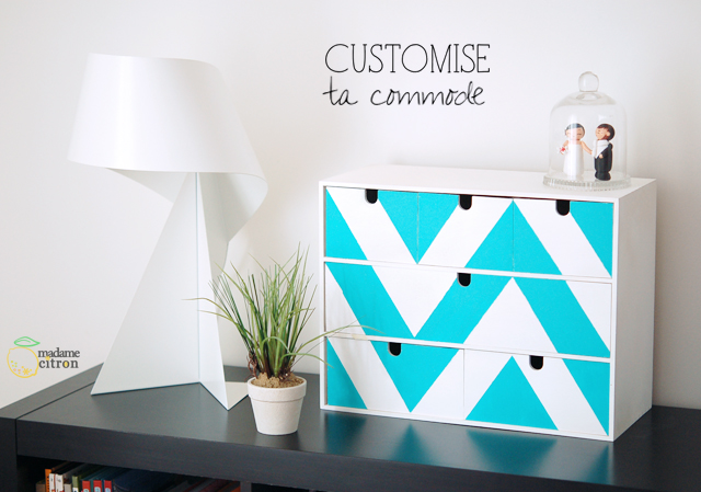 Customiser un meuble ikea mini commode moppe madame for Customiser meuble ikea
