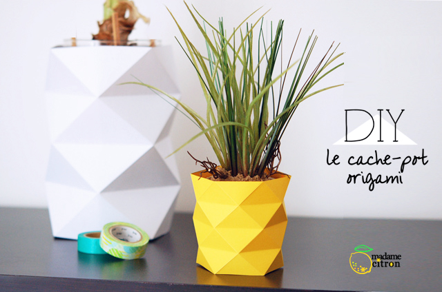 comment faire un cache pot en papier madame citron blog de cr ations et diy. Black Bedroom Furniture Sets. Home Design Ideas