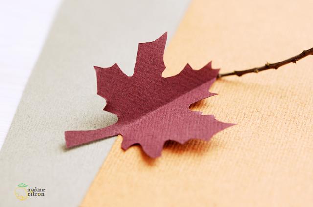 feuille arbre papier