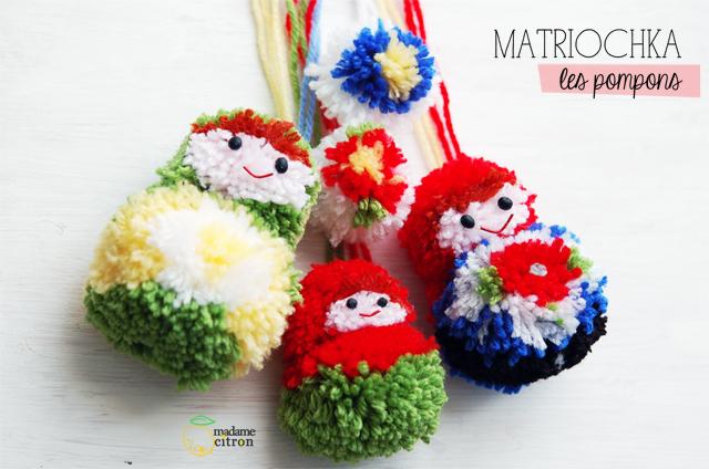 Tuto pompon laine matriochka diy madame citron blog de cr ations et diy - Pompon en laine forme coeur ...