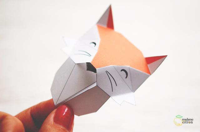Diy Tutoriel Trophée Animaux En Origami Madame Citron Blog De