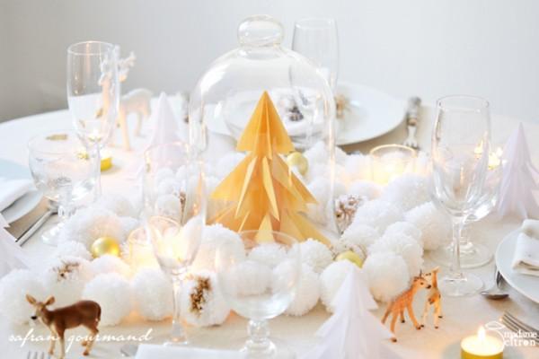 décoration de table noël enchanté