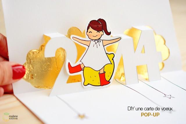 carte de voeux pop up a imprimer