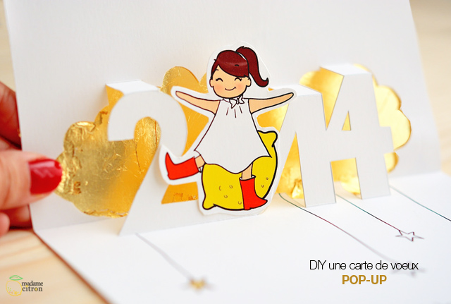 Tuto diy carte de voeux 2014 pop up imprimer madame citron blog de cr ations et diy - Carte de voeux pop up ...
