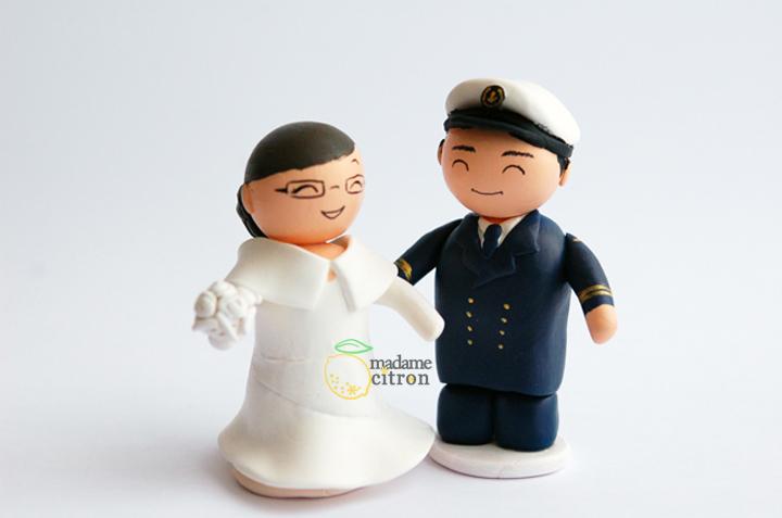 figurines mariage marin