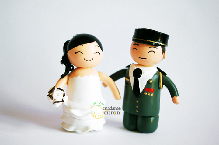 figurines mariage militaire