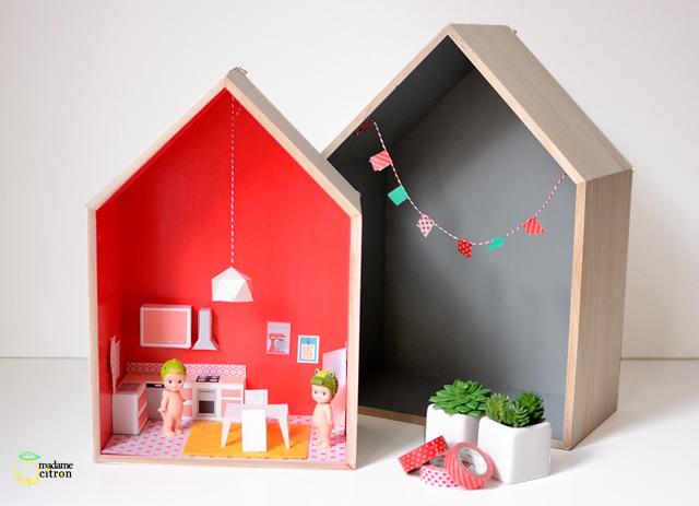 Diy Une Maison De Poupee Meubles Miniatures A Imprimer La