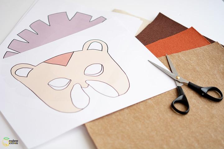 masque lion a imprimer