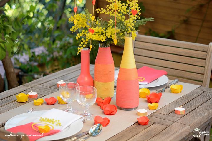 DIY tuto décoration de table romantique - Saint Valentin | Madame Decoration Romantique on