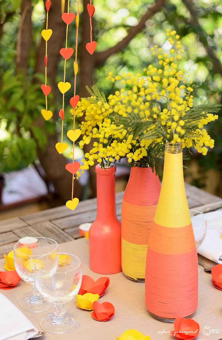 DIY tuto décoration de table romantique - Saint Valentin  Madame ...