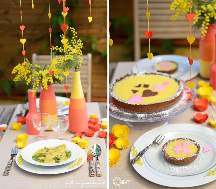 DIY tuto décoration de table romantique - Saint Valentin  Madame ...