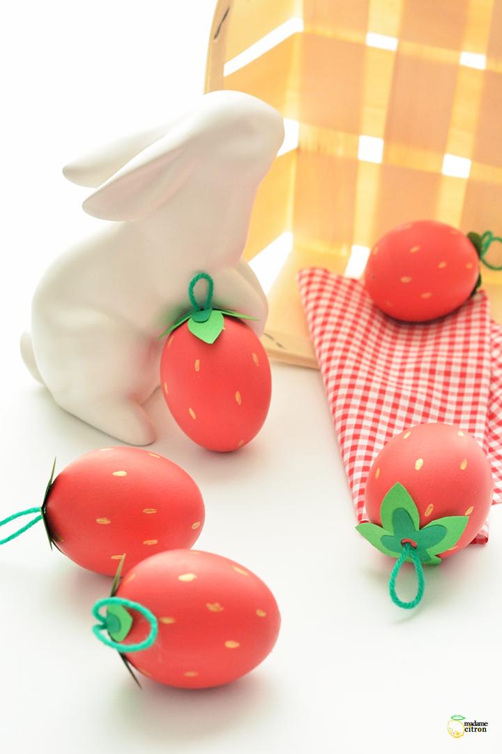 oeuf de paques fraise