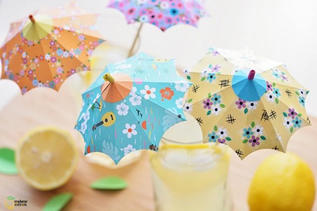 ombrelle decoration cocktail