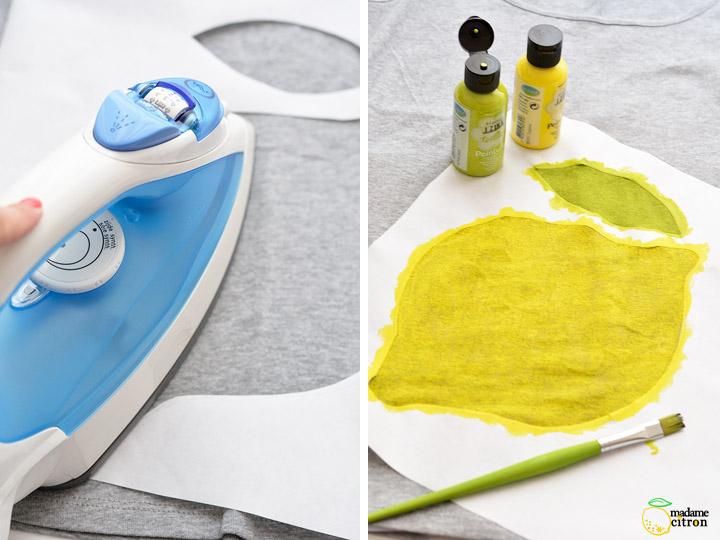 peinture sur tissu