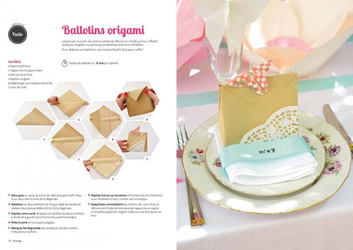 table de mariage DIY