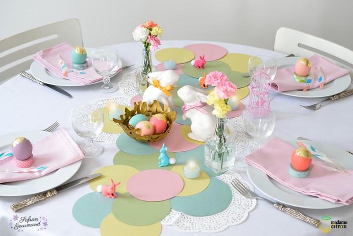table de fete pâques