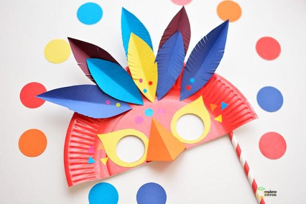 masque de carnaval oiseau