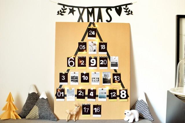 calendrier de l'avent DIY photos