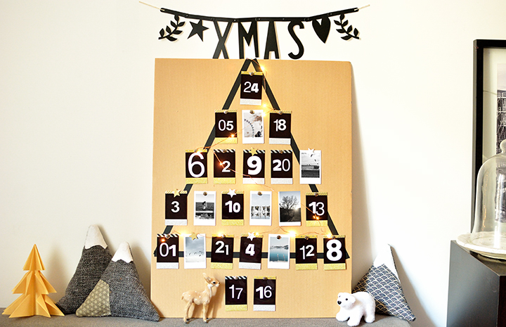 calendrier de l'avent DIY photos