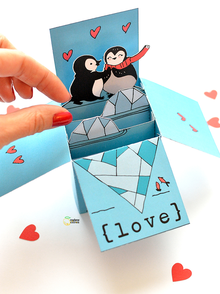carte pop up saint valentin