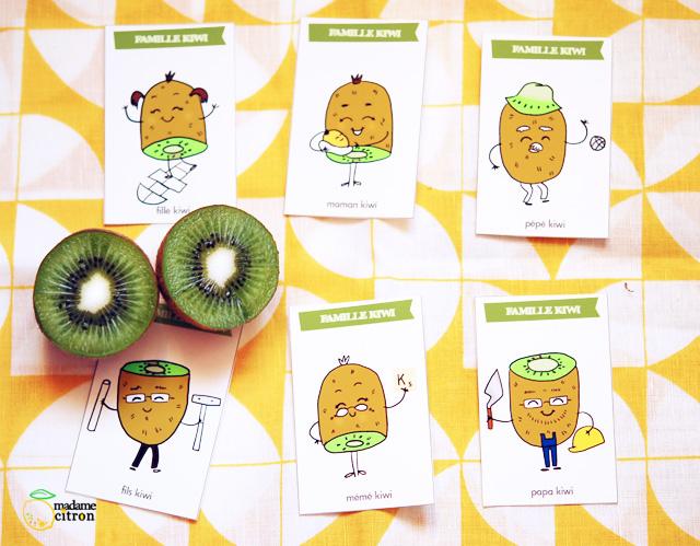 Très bien Extreme Jeu de 7 familles à imprimer (Les kiwis) | Madame Citron - Blog de  WY62